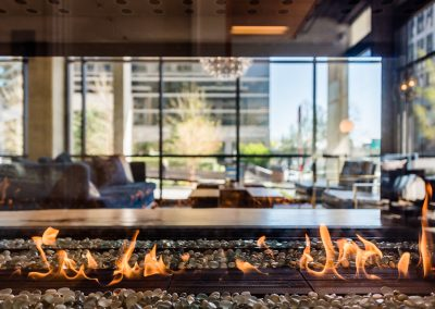 See through fire place - Alley 111 in Bellevue