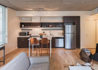 Alley 111 Apartments in Bellevue - Kitchen View