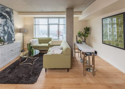 Stunning living space at Alley 111 Apartments