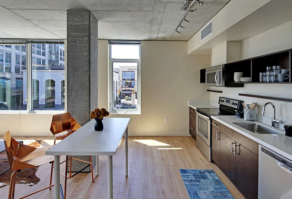 Open and bright Kitchen with Stainless Steel Appliances - Alley 111 Apartments